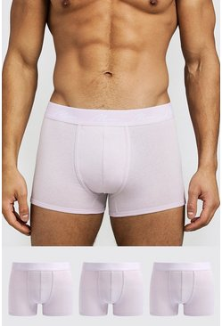 Lilac 3 Pack MAN Signature Trunks