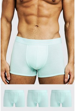Mens Aqua 3 Pack MAN Signature Trunks