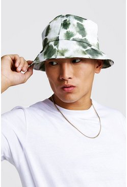 Mens Khaki Tie Dye Bucket Hat