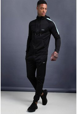 Mens Multi MAN Skinny Fit Tracksuit With Side Panels