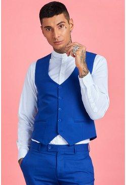 Cobalt Skinny Fit Plain Vest