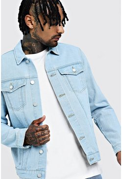 Mens Light blue Regular Denim Western Jacket