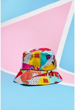 Mens Multi Pride Bucket Hat With Unity Print