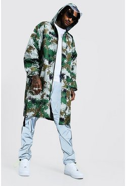 Mens Camo Zip Through Festival Mac