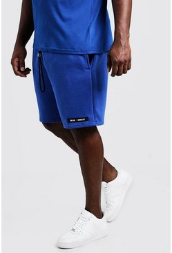 Mens Cobalt Big & Tall Regular Fit MAN Branded Short