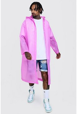 Mens Pink Festival Eva Raincoat