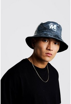 Mens Black Perspex Coated Bucket Hat