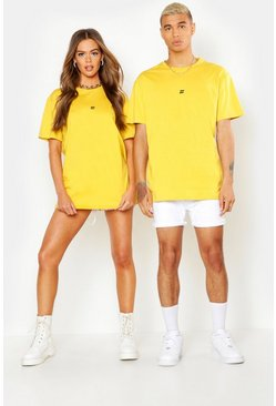 Mens Mustard Pride Loose Fit T-Shirt With Back Print