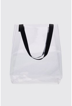 Mens Clear Perspex Shopper Bag