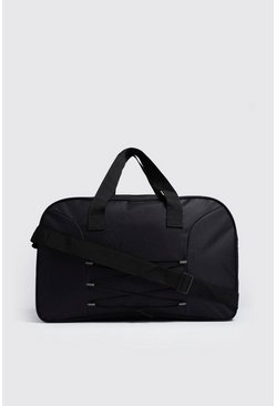 Mens Black Cord Detail Holdall