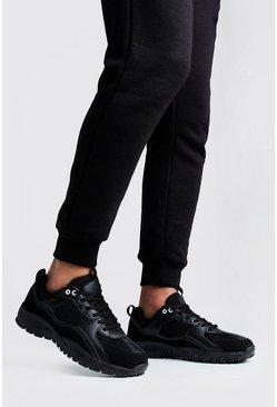 Black Hiking Sole Sneaker