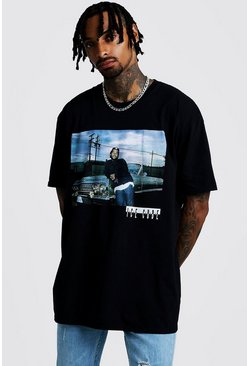 Mens Black Ice Cube Oversized License T-Shirt