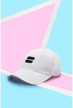 White Pride Cap With Embroidered 3D Equality Symbol