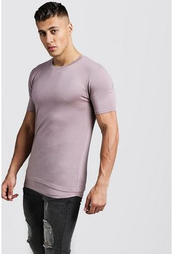 Mens Bark Muscle Fit Tee With Faux Layer