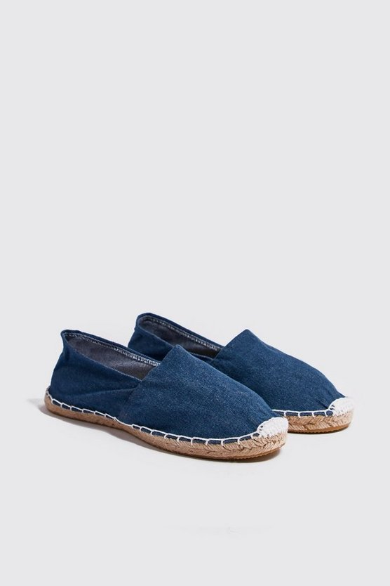 Mens Denim Slip On Espadrille