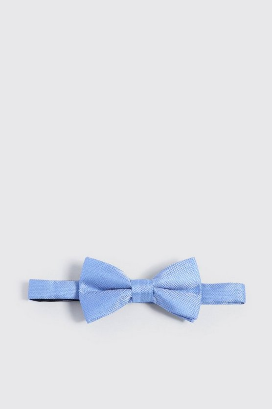 Pale blue Textured Bow Tie