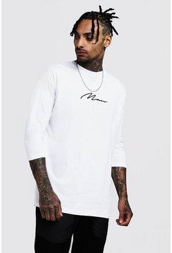 81df331e Mens T-Shirts & Vests | Longline & Oversized - boohooMAN