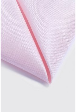 Mens Pale pink Textured Pocket Square