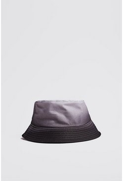 Mens Black Ombre Bucket Hat