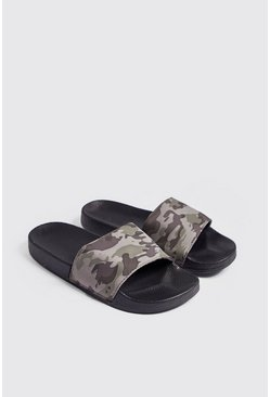 Mens Camo Sliders