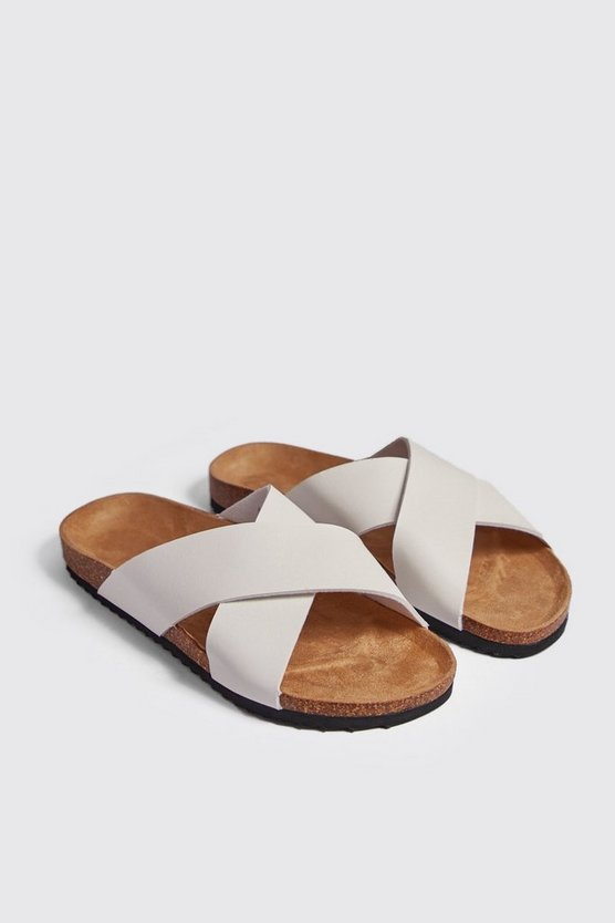 White Double Strap Footbed Sandal