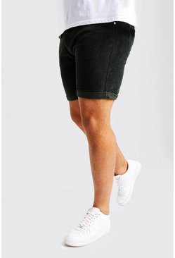 Mens Sage Big And Tall Slim Fit Corduroy Shorts