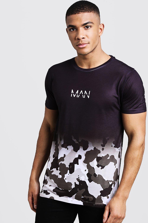 2da278247 Mens Camo Original MAN Camo Faded T-Shirt. Hover to zoom