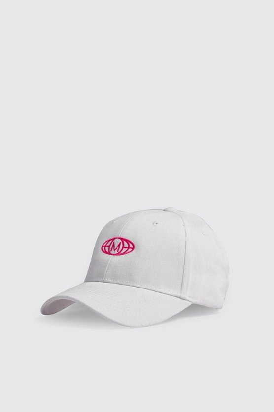 M Globe Embroidered Cap