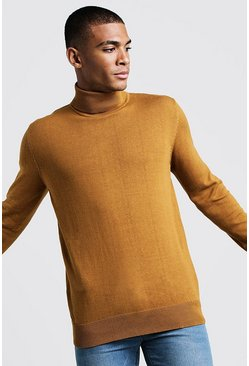 Mustard Long Sleeve Roll Neck Jumper