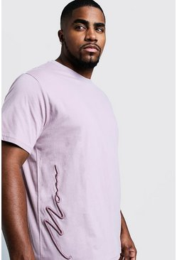 Big & Tall - T-shirt avec signature 3D MAN, Bark, Homme