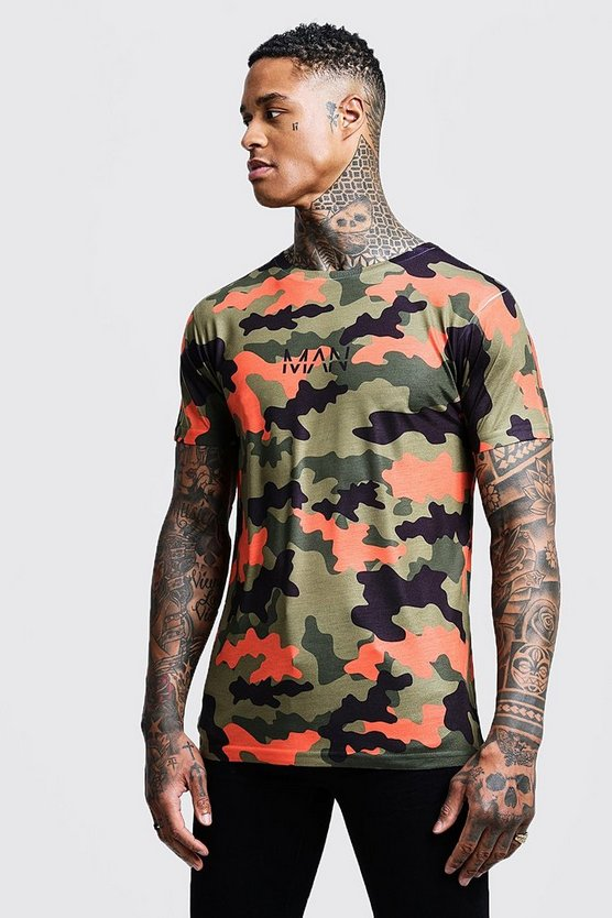 Original Man Camo Printed T Shirt