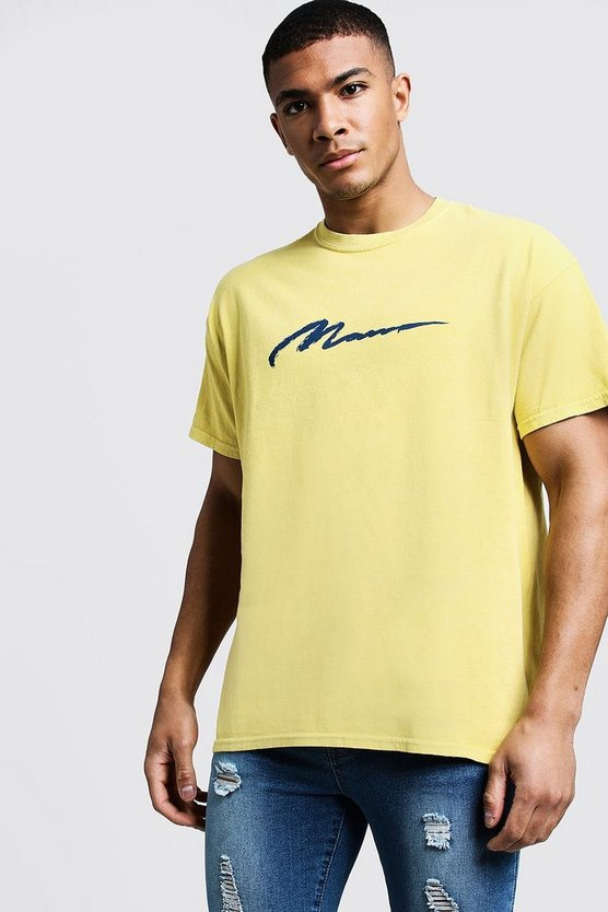 MAN Paint Loose Fit Overdyed T-Shirt