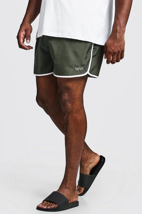 Khaki Big & Tall Original MAN Runner Swim Short