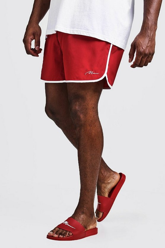 Big & Tall - Short de bain running signature MAN, Rouge, Homme