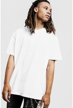 White Oversized Crew Neck T-Shirt