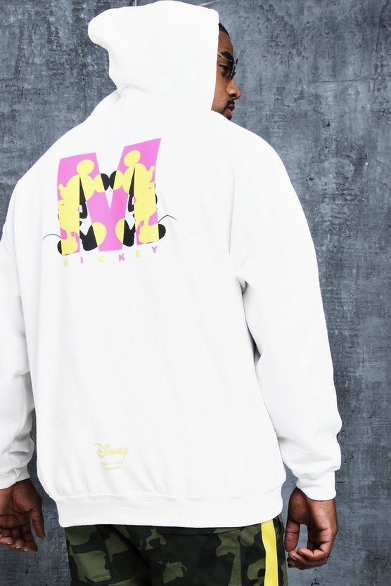 Dinsey Big And Tall Mickey 'M' Print Hoodie