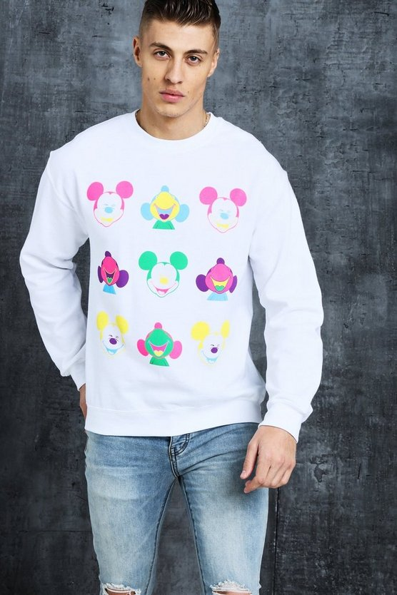 Disney Happy Mickey Printed Sweat