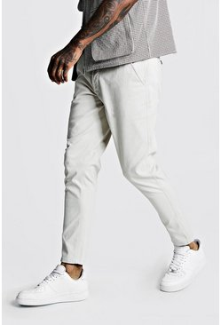 Mens Stone Skinny Fit Stretch Chino Pants
