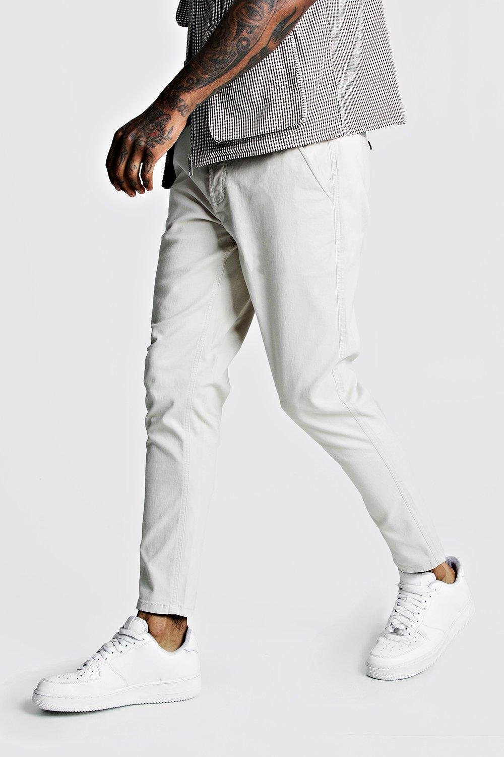 07251709 Skinny Fit Stretch Chino Trouser - boohooMAN