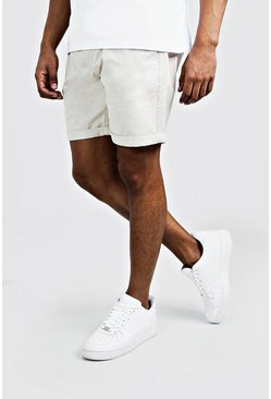 Mens Stone Slim Fit Rigid Chino Short