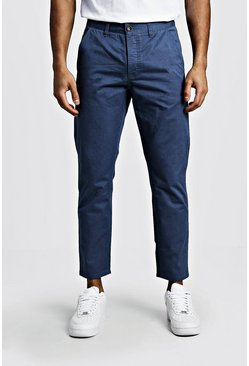 Mens Dusty blue Slim Fit Rigid Chino Pants