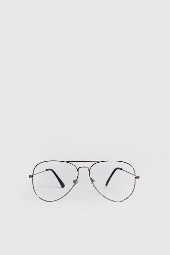 Clear Lens Aviator Fashion Glasses