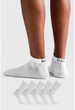 White Man Dash 5 Pack Sneakers Socks