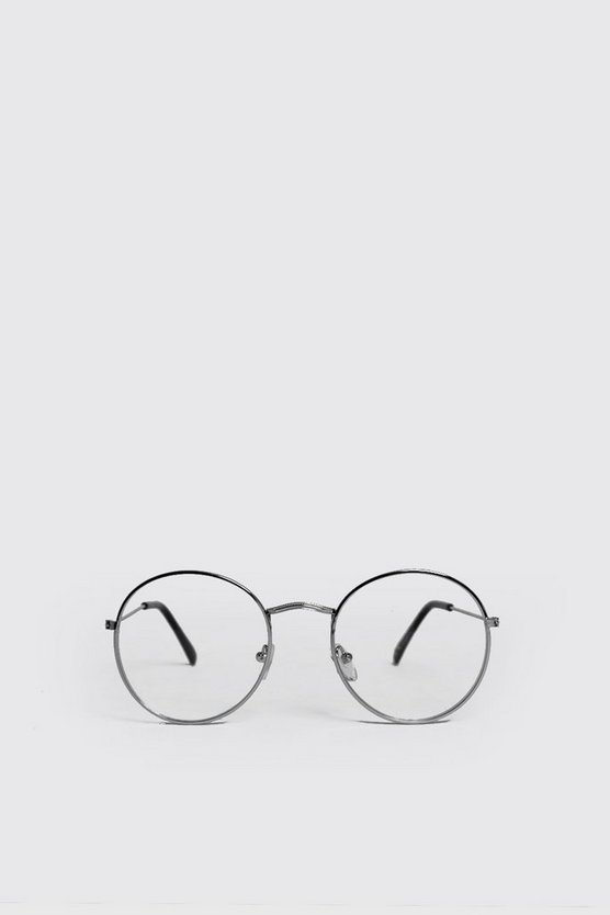Clear Lens Round Fashion Glasses