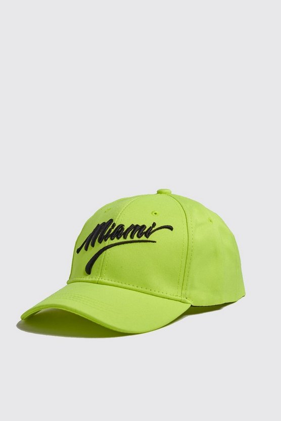 Neon Miami Embroidered Cap