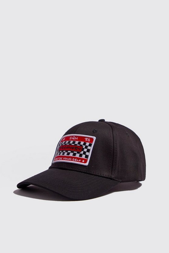 Black Motorsport Embroidered Cap