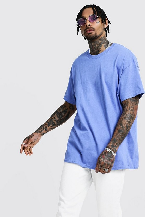 Violet Oversized Crew Neck T-Shirt