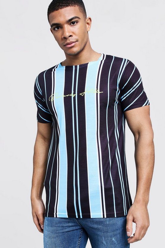 Beverly Hills Stripe Crew Neck T-Shirt