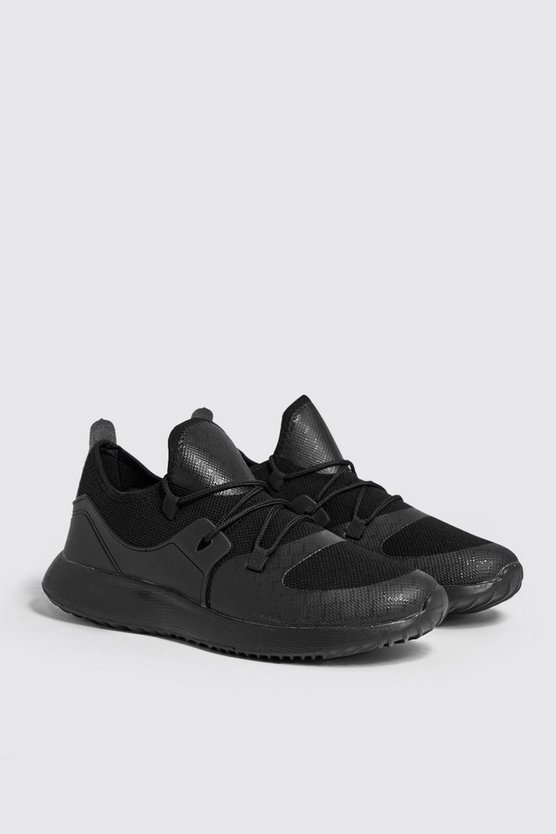 Mesh Upper Trainers With Chunky Sole