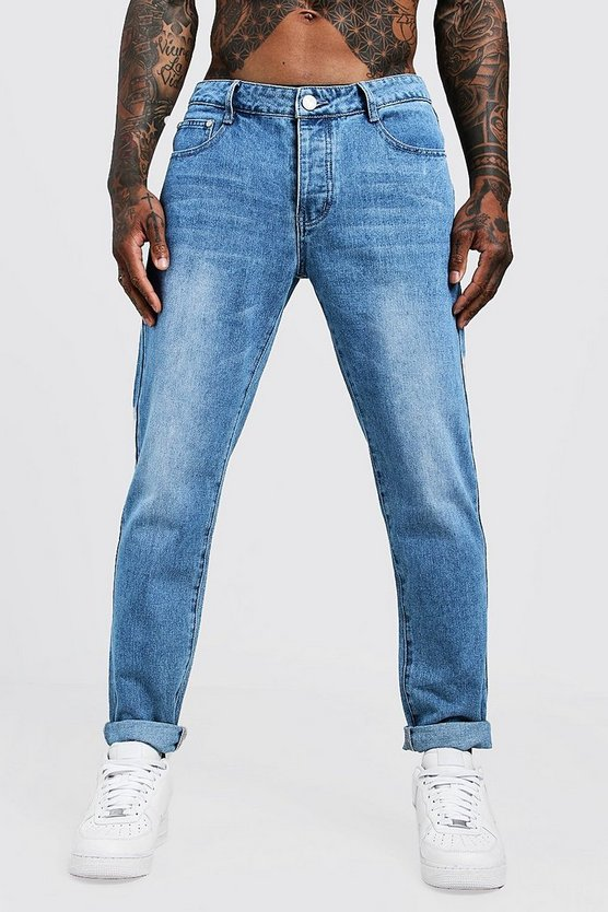 Vintage wash Slim Fit Rigid Denim Jeans